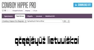Font Squirrel: patikrinam lietuviškus rašmenis