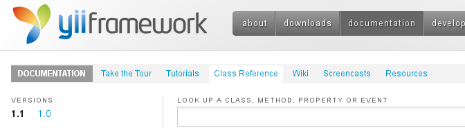 Yii Framework v1.1.14 Class Reference – CHM