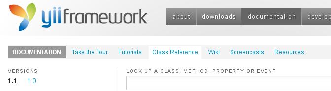 Yii Framework v1.1.14 Class Reference – CHM