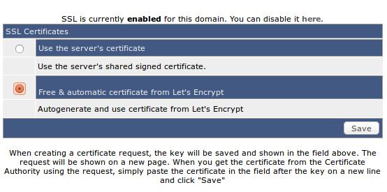 Užsakom Let's encrypt